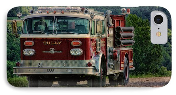 Fire Truck  Engine 13 Village Of Tully New York Pa IPhone Case by Thomas Woolworth