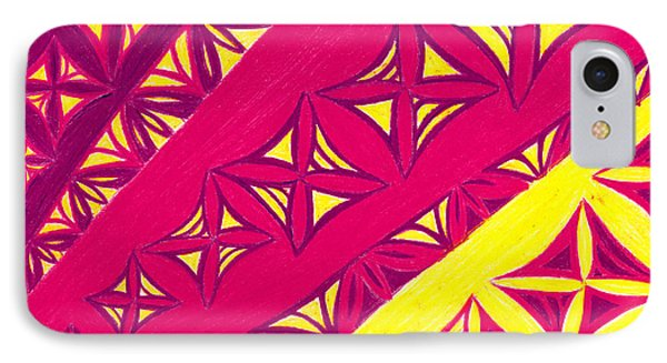 IPhone Case featuring the drawing Fire Velvet Lace by Kim Sy Ok