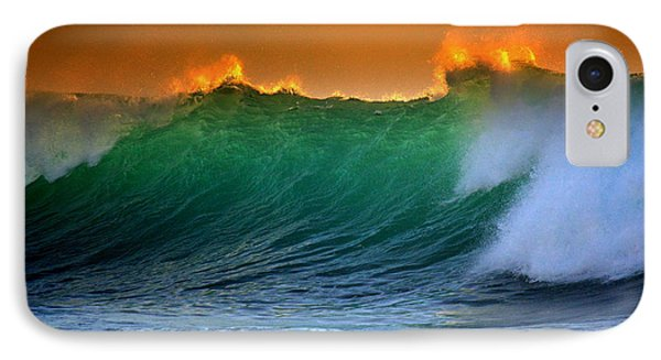 Fire Wave IPhone Case by Lori Seaman