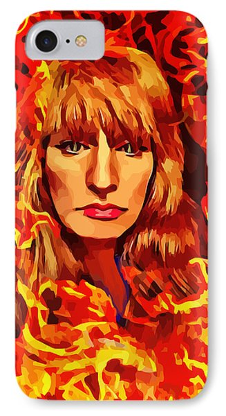 Fire Woman Abstract Fantasy Art IPhone Case
