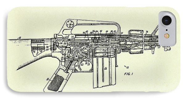 Firearm Having An Auxiliary Bolt Closure Mechanism-1966 IPhone Case by Pablo Romero