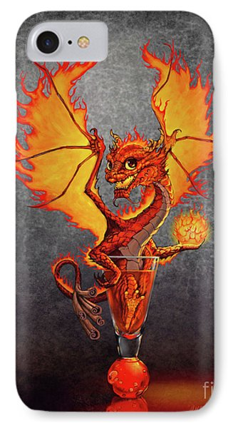 IPhone Case featuring the digital art Fireball Dragon by Stanley Morrison