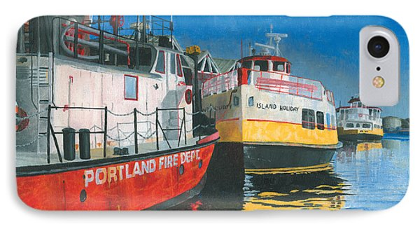 Fireboat And Ferries Phone Case by Dominic White