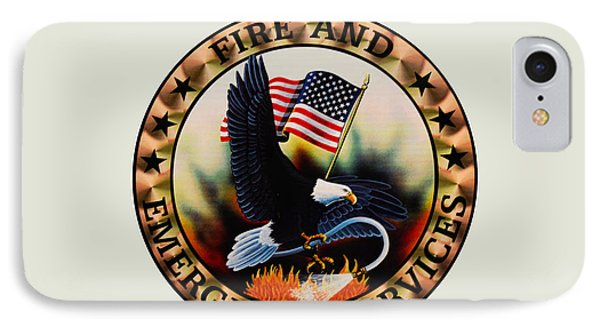 Fireman - Fire And Emergency Services Seal IPhone Case by Paul Ward