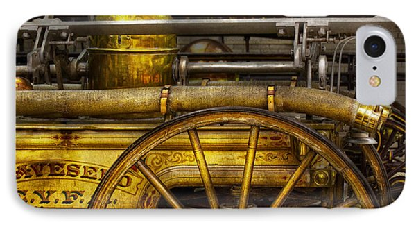 Fireman - Piano Engine - 1855  Phone Case by Mike Savad