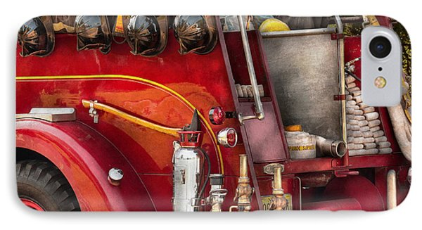 Fireman - Ready For A Fire Phone Case by Mike Savad