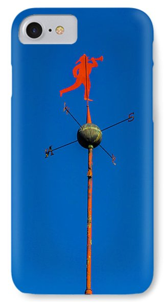 Fireman Weather Vane IPhone Case by Garry Gay