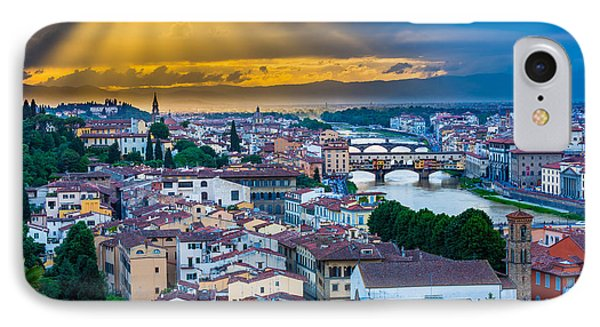 Firenze Sunset Phone Case by Inge Johnsson