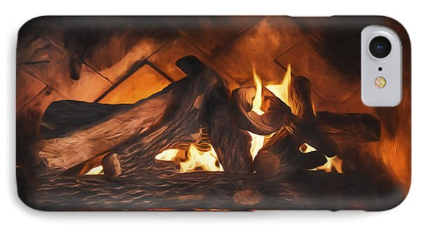 Fireplace  ... IPhone Case by Chuck Caramella