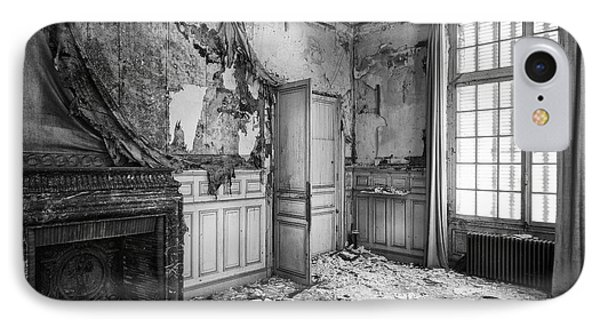 Fireplace In Decay -abandoned Building IPhone Case by Dirk Ercken