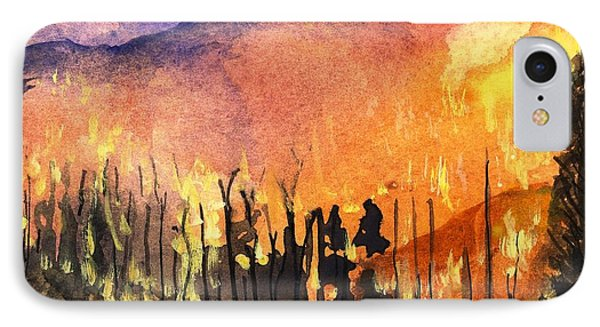 Fires In Our Mountains Tonight IPhone Case