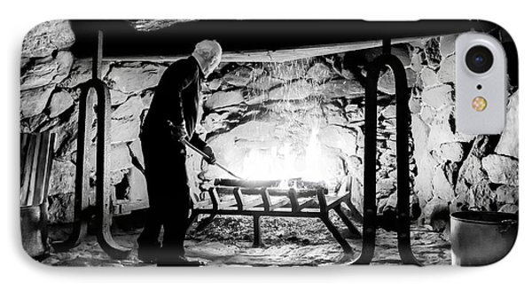 Fireside At The Grove Park Inn IPhone Case by Karen Wiles