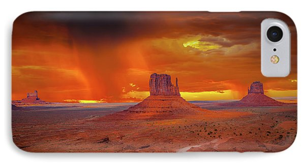 Firestorm Over The Valley IPhone Case by Mark Dunton