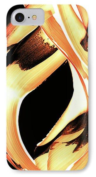 Firewater 1 - Buy Orange Fire Art Prints Phone Case by Sharon Cummings