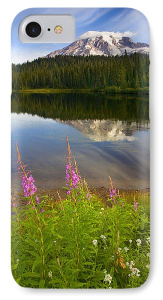 Fireweed Reflections Phone Case by Mike  Dawson