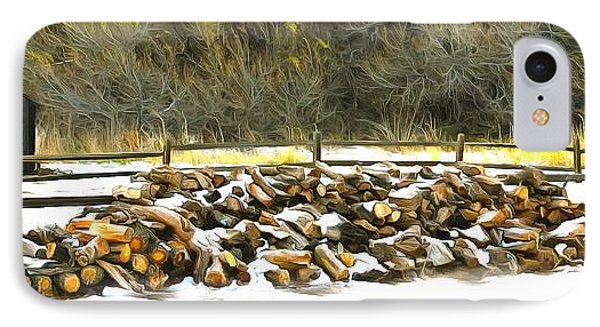 IPhone Case featuring the photograph  Floyd Snyder by Firewood in the Snow at Fort Tejon