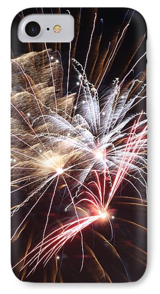 Fireworks Abstract 30 2015 IPhone Case by Mary Bedy