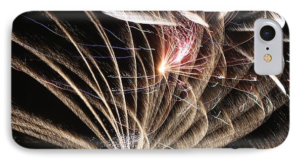 Fireworks Abstract 35 2015 IPhone Case by Mary Bedy