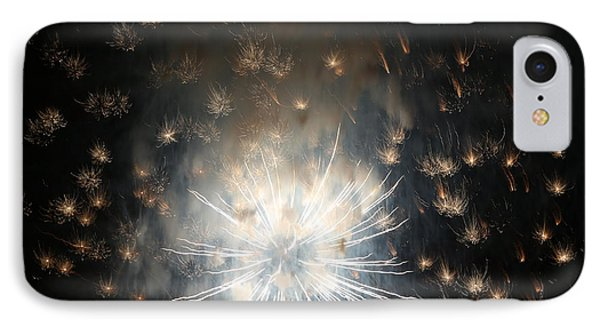 Fireworks Abstract 40 2015 IPhone Case by Mary Bedy