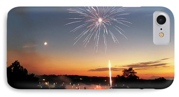 Fireworks And Sunset Phone Case by Amber Flowers