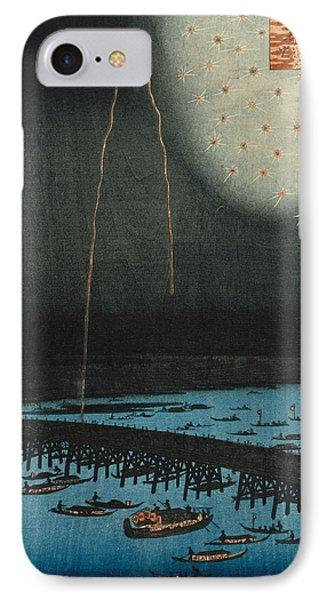 Fireworks At Ryogoku IPhone Case by Hiroshige