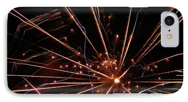 IPhone Case featuring the photograph Fireworks Blast #0703 by Barbara Tristan