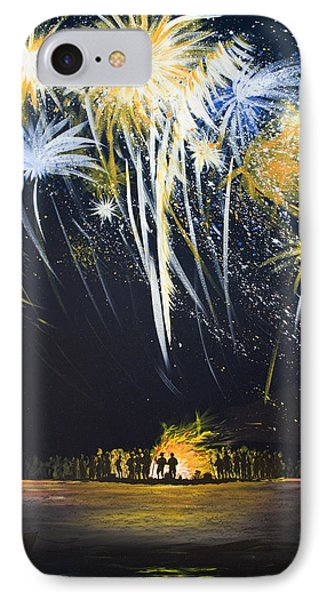 Fireworks Bonfire On The West Bar Phone Case by Charles Harden