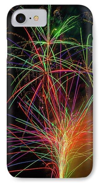 Fireworks Bursting In Sky IPhone Case