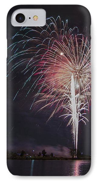 Fireworks Display On The Lake IPhone Case by Chris Thomas