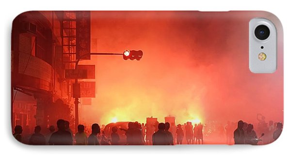 IPhone Case featuring the photograph Fireworks During A Temple Procession by Yali Shi