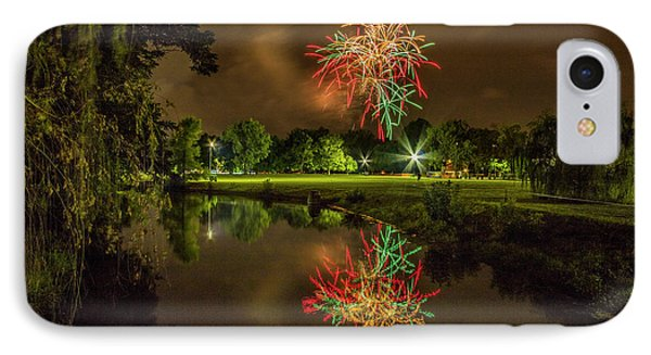Fireworks During Fair St Louis In Forest Park IPhone Case