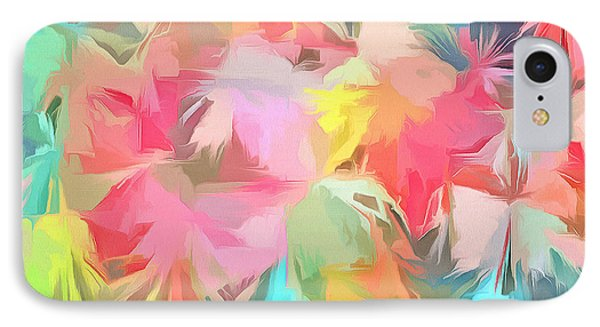 Fireworks Floral Abstract Square IPhone 7 Case by Edward Fielding