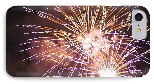 Fireworks In The Park 3 IPhone Case by Gary Baird