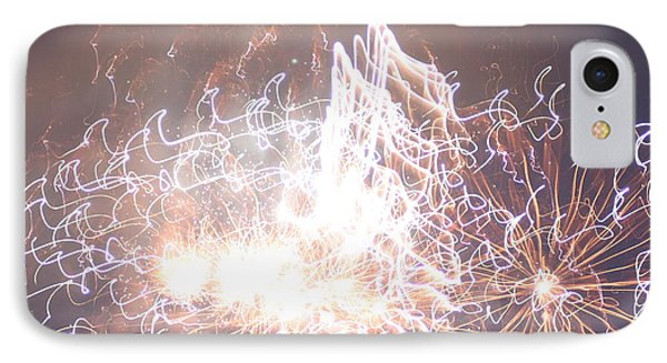 Fireworks In The Park 6 IPhone Case by Gary Baird