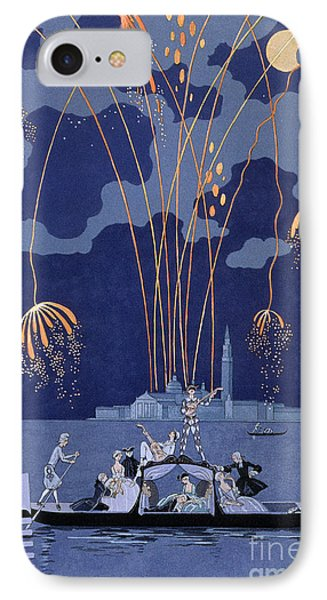 Fireworks In Venice IPhone Case by Georges Barbier