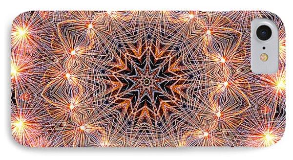Fireworks Mandala By Kaye Menner IPhone Case by Kaye Menner