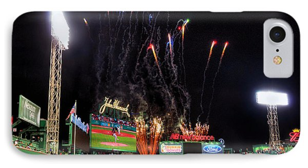 Fireworks Over Fenway Park - Boston IPhone Case by Joann Vitali
