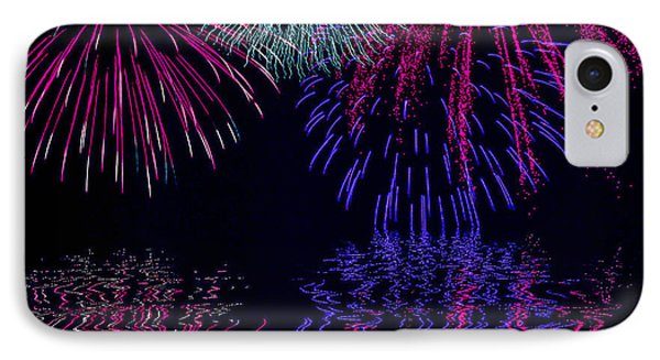 Fireworks Over Open Water 1 IPhone Case by Naomi Burgess