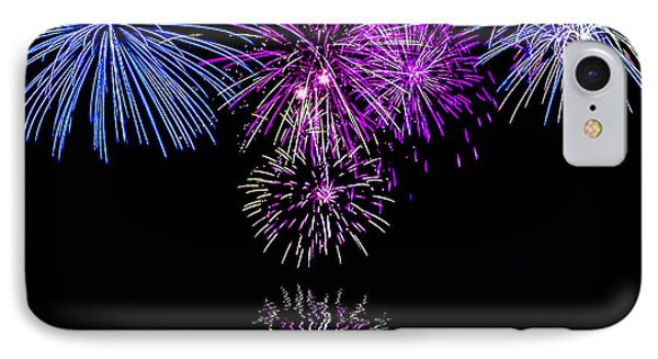 Fireworks Over Open Water 2 IPhone Case by Naomi Burgess