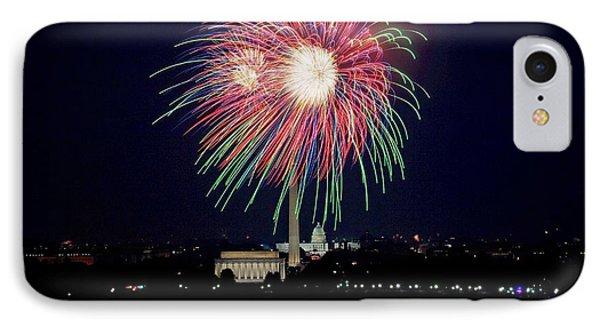 Fireworks Over The Pentagon IPhone Case by FL collection