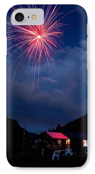 Fireworks Show In The Mountains Phone Case by James BO  Insogna