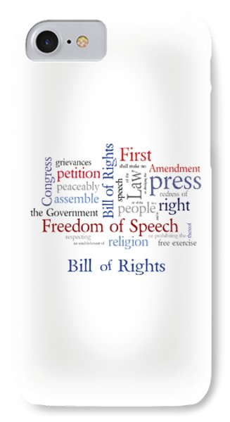 First Amendment - Bill Of Rights IPhone Case by Antique Images