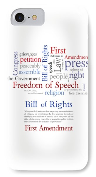 First Amendment Freedom Of Speech IPhone Case by Antique Images
