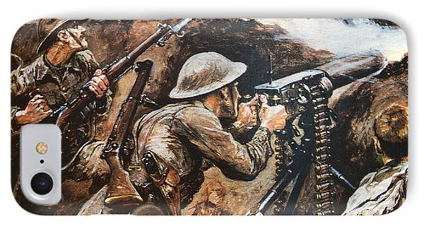 First Battle Of The Somme IPhone Case by Stanley L Wood