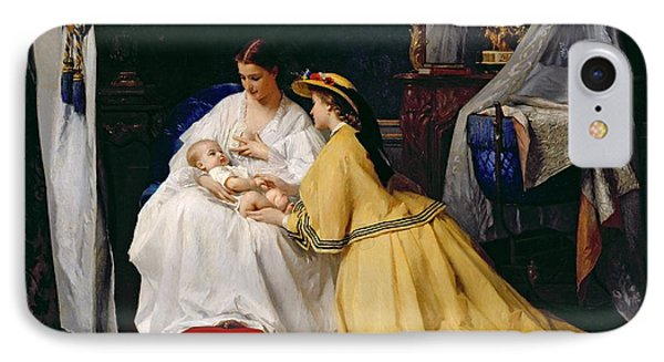 First Born Phone Case by Gustave Leonard de Jonghe