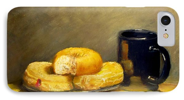 IPhone Case featuring the painting First Call...breakfast by Jack Skinner