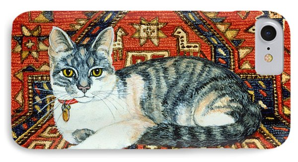 First Carpet Cat Patch IPhone Case by Ditz