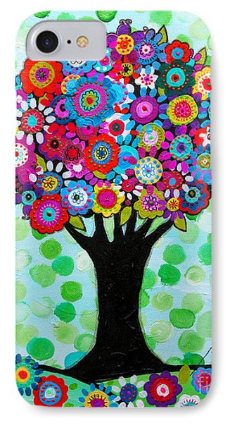 IPhone Case featuring the painting First Day Of Spring by Pristine Cartera Turkus