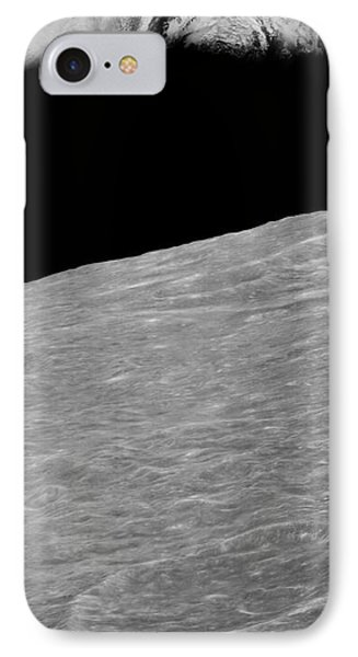 First Earthrise 1966 IPhone Case by NASA LOIRP Science Source