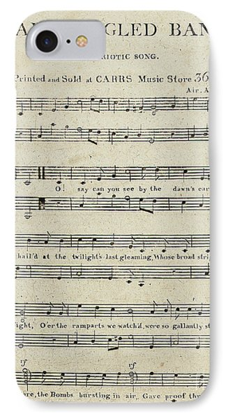 First Edition Of The Sheet Music For The Star Spangled Banner IPhone Case